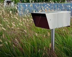 Midcentury Modern Landscaping - mid century modern mailbox numbers best mid century modern