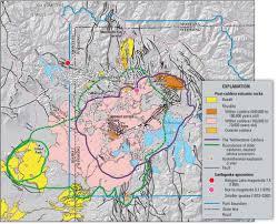 Yellowstone Lodging Map Volcano Yellowstone Geology