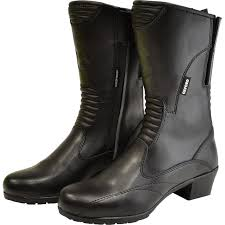 ladies black motorcycle boots oxford savannah ladies leather motorcycle boots waterproof womens