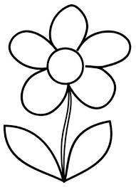 free printable flower coloring page template i would make a