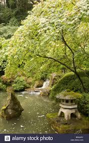 Gardening Zones Usa - japanese garden portland oregon usa stock photo royalty free