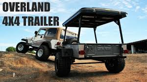 jeep offroad trailer black scorpion off road standard trailer youtube