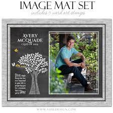 word image mat set 8x10 16x20 tree of senior
