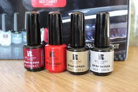 Red Carpet Gel Polish Pro Kit Blogmas Day 20 Red Carpet Manicure Kit And Christmas Gel Nails