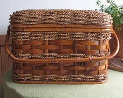 vintage picnic basket vintage picnic basket etsy