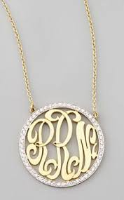 monogram jewelry cheap large monogram necklace 2 inch personalized monogram 925