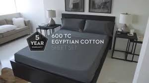 malouf 600 thread count egyptian cotton sheet set youtube
