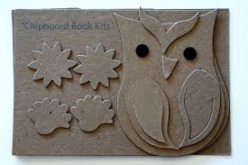 Chipboard Albums Paper And Fiber Arts Chipboard Album Kits Owls