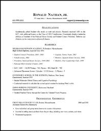 Psychology Resume Template Sample Format Resume High Student Resume Format Resume
