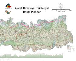 Map Nepal India by Great Himalaya Trail Get Trekking Nepal Maps