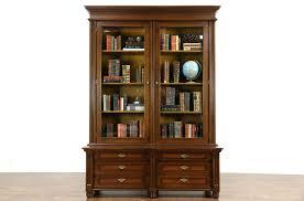 Adjustable Shelves Bookcase Sold Oak 1900 Antique German Library Bookcase Beveled Glass