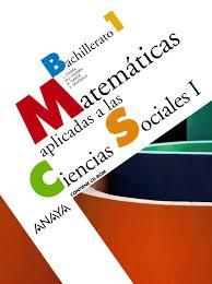 imagenes matematicas aplicadas matemáticas aplicadas a las ciencias sociales 1º bachillerato vv