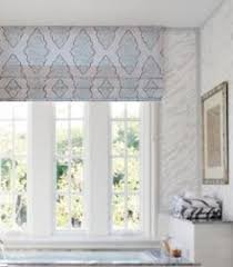 White Valance Faux Roman Shade In Storm Grey White Ticking Stripe Valance Is