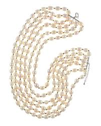 pearls silver necklace images 6 strand princess length pearl necklace beauchamp place jpg