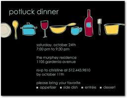 potluck invitation invites