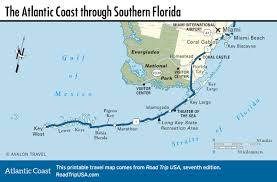 Map Florida Keys by Atlantic Coast Florida Road Trip Road Trip Usa