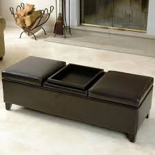 furniture leather storage ottoman coffee table ideas brown