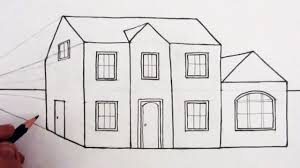 how to draw a house in 1 point perspective narrated