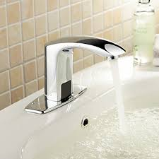 Centerset Waterfall Faucet Centerset Chrome Brass Widespread Waterfall Two Handles Touchless