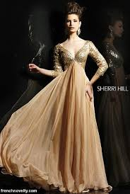 sherri hill evening dress 2963 with three quarter sleeves