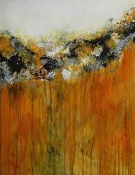 yellow and black abstract painting original contemporary artwork