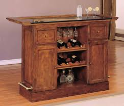 Small Bar Cabinet Brown Wooden Cabinet With Shelves On The Middle Of Drawers And