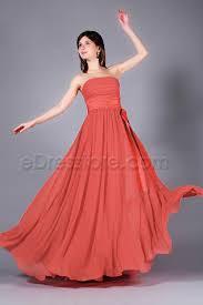 coral plus size bridesmaid dresses strapless coral chiffon bridesmaid dresses with bow plus size