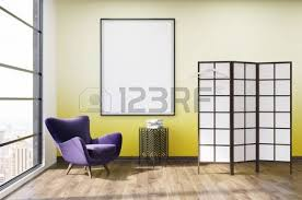 Purple Armchair Modern Dressing Room Interior In Luxury Apartment Purple Armchair