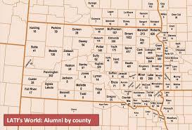 Map Of South Dakota Counties Alumni Impact Lake Area Technical Institute