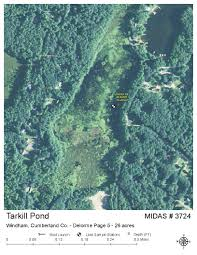 Cumberland Lake Map Lakes Of Maine Lake Overview Tarkill Pond Windham