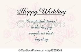wedding wishes clipart happy wedding greeting card design style vector illustration eps