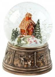 gingerbread house bronze snow globe best seller