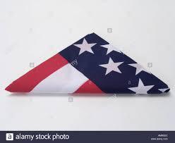 How To Fold Us Flag Triangular Folded American Flag Stock Photo Royalty Free Image