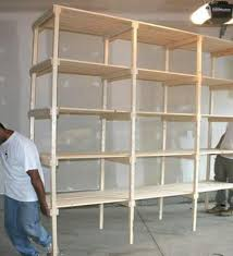 Wood Storage Shelves Plans by Building A Wooden Storage Shelf In The Basement Youtube
