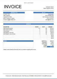 8 free freelance invoice templates in word and excel hloom sample
