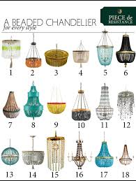 Types Of Chandeliers Styles De Resistance A Beaded Chandelier The Anatomy Of Design