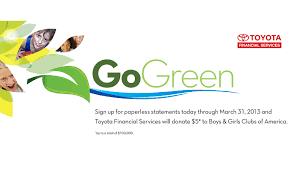 lexus financial website toyota lexus financial services kicks off 2nd annual u0027gogreen