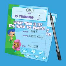 guppies birthday invitations nickelodeon parents