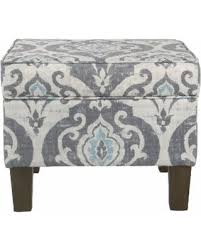 Homepop Storage Ottoman Amazing Deal On Homepop Suri Storage Ottoman Blue Slate Blue
