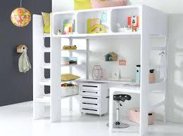 bureau surélevé lit sureleve avec bureau lit mezzanine avec bureau pour fille