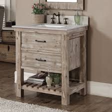 bathroom vanity no sink infurniture rustic style brown recycled fir and quartz marble 30