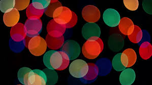 colorful rounds slowly blinking on black background stock footage