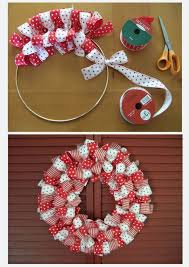 ribbon wreath craft diy real