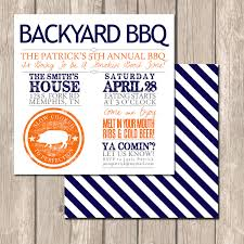 summer backyard bbq invitations perfect for entertaining