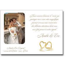 faire part de remerciement mariage remerciement mariage coeurs entrelacés or ou argent lutin faire