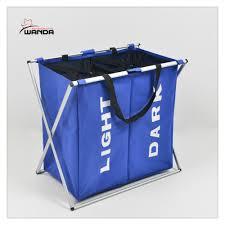 laundry separator hamper new laundry sorter hamper 2 bin bags section basket lights darks