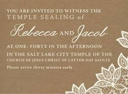 lds wedding invitations lds wedding invitation wording lds wedding invitation wording and