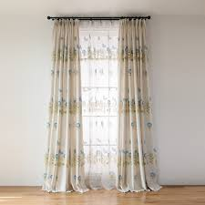 Floor To Ceiling Curtains Beige Blue Floral Floor To Ceiling Beautiful Curtains
