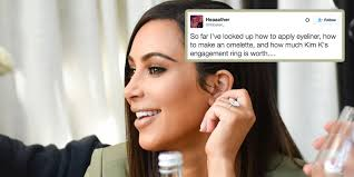 Kim K Wedding Ring by Twitter Is Losing It Trying To Figure Out If Kim K U0027s Engagement