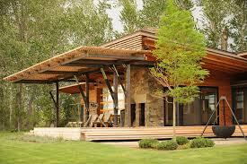 contemporary prefab home montana modern prefab modular homes